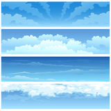 Skyscape set Royalty Free Stock Photography