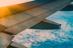 Skyscape viewed from airplane. Awesome skyscape viewed from board of airplane Stock Photos