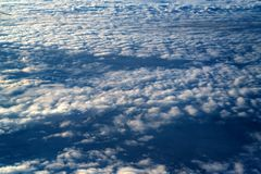 Skyscape viewed from airplane. Awesome skyscape viewed from board of airplane Stock Photography