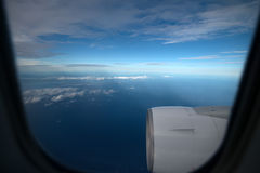 Skyscape viewed from airplane Royalty Free Stock Image