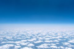 Skyscape viewed from airplane. Awesome skyscape viewed from board of airplane Stock Photo