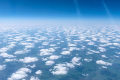 Skyscape viewed from airplane. Awesome skyscape viewed from board of airplane Royalty Free Stock Photos