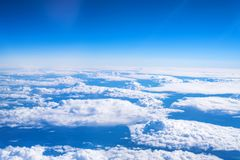 Skyscape viewed from airplane. Awesome skyscape viewed from board of airplane Royalty Free Stock Photography