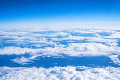 Skyscape viewed from airplane. Awesome skyscape viewed from board of airplane Stock Images