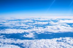 Skyscape viewed from airplane. Awesome skyscape viewed from board of airplane Stock Image