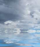 Skyscape with water reflections Stock Image