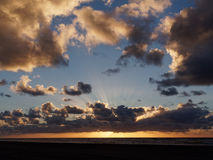 Skyscape at Ynyslas. Dramatic skyscape just before sunset at Ynyslas, Borth, Ceredigion, Wales Royalty Free Stock Photos