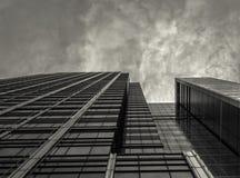 Skyscaper astratto di costruzione Immagini Stock