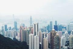 Skyscaper in Hongkong Stock Foto's