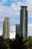 Skyscaper och modernt kontor exponeringsglas-som byggnader Royaltyfri Fotografi