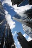 Skyscapers在街市芝加哥 免版税库存图片