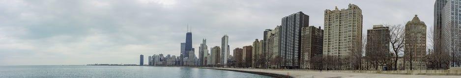 Skyscapers και skylin του Σικάγου και της λίμνης Μίτσιγκαν από Milenniu Στοκ φωτογραφία με δικαίωμα ελεύθερης χρήσης