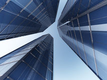 Skyscapers 3d rendering Stock Photography