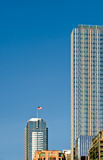 Skyscapers in downtown Seattle Stock Photos