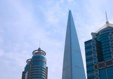 Skyscapers en Shangai Imagen de archivo