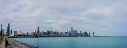 Skyscapers och skylin av Chicago och Lake Michigan från Milenniu Royaltyfri Foto