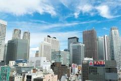 Skyscapers at Shinjuku, Japan Royalty Free Stock Photography