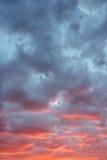 skyscapesolnedgång Arkivbilder
