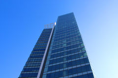 Skyscrabers. Picture shows a skyscraber. Office building. Modern Stock Image