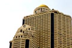 skyscrape di giallo del distretto di ufficio della Tailandia del terrazzo di Bangkok Immagine Stock