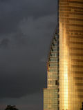 Skyscraper. At stormy weather royalty free stock images