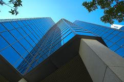 Skyscraper. Office tower in urban centre of calgary, alberta stock photography