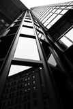 Skyscraper. Black and white picture of a Skyscraper from a low pint of view royalty free stock photos