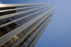 Skyscraper. Tall office building on a sunny day Stock Image