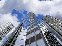 Skyscraper. Modern skyscraper reaching up to the sky - rendering Royalty Free Stock Photos