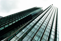 Skyscraper. Modern glass building in abstract royalty free stock image