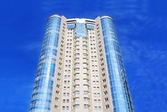 Skyscraper. Image of skyscraper with blue sky Russia Royalty Free Stock Image
