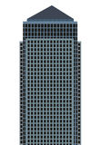 Skyscraper. Vector simple skyscraper on the white background Royalty Free Stock Image