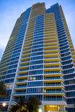 Skyscraper. Luxury Condo Building in Miami Beach, Florida stock photo
