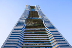 Skyscraper. The Yokohama landmark tower in Japan royalty free stock photo