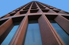 Skyscraper. Looking upwards at the headquarters of the company Royalty Free Stock Photo