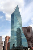 Skyscraper. A skyscraper made of glass reflects another building in the Dallas, Texas downtown skyline Stock Photo
