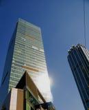 Skyscraper. Modern office skyscraper building ove blue sky Stock Images