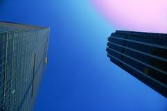Skyscraper. Modern office skyscraper building ove blue sky Royalty Free Stock Photos