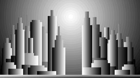 Skyscraper. S black and white panorama Stock Photography