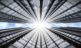 Skyscraper. With cloudy sky reflection Royalty Free Stock Photos