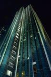 A skyscraper in Astana at night Royalty Free Stock Photos
