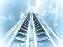 Skyscraper background Stock Images