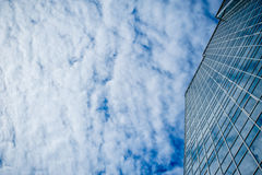 Skyscraper on a background of clouds Royalty Free Stock Photo