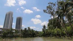 Skyscraper in Bangkok Building. Height Time-lapse