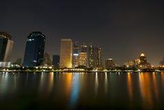 Skyscraper in Bangkok. It views from Benchakitti Park Stock Photos