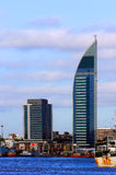 Skyscraper in the bay of Montevideo Stock Photo