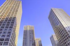 Skyscraper of beijing business center Royalty Free Stock Image