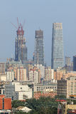 Skyscraper, Beijing downtown, China Royalty Free Stock Photos