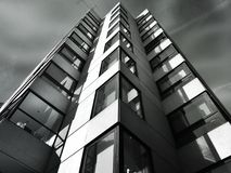 Skyscraper in black and white  Stock Images