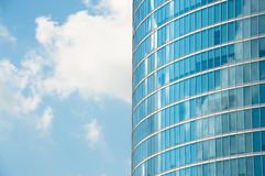 Skyscraper with blue sky. Royalty Free Stock Images